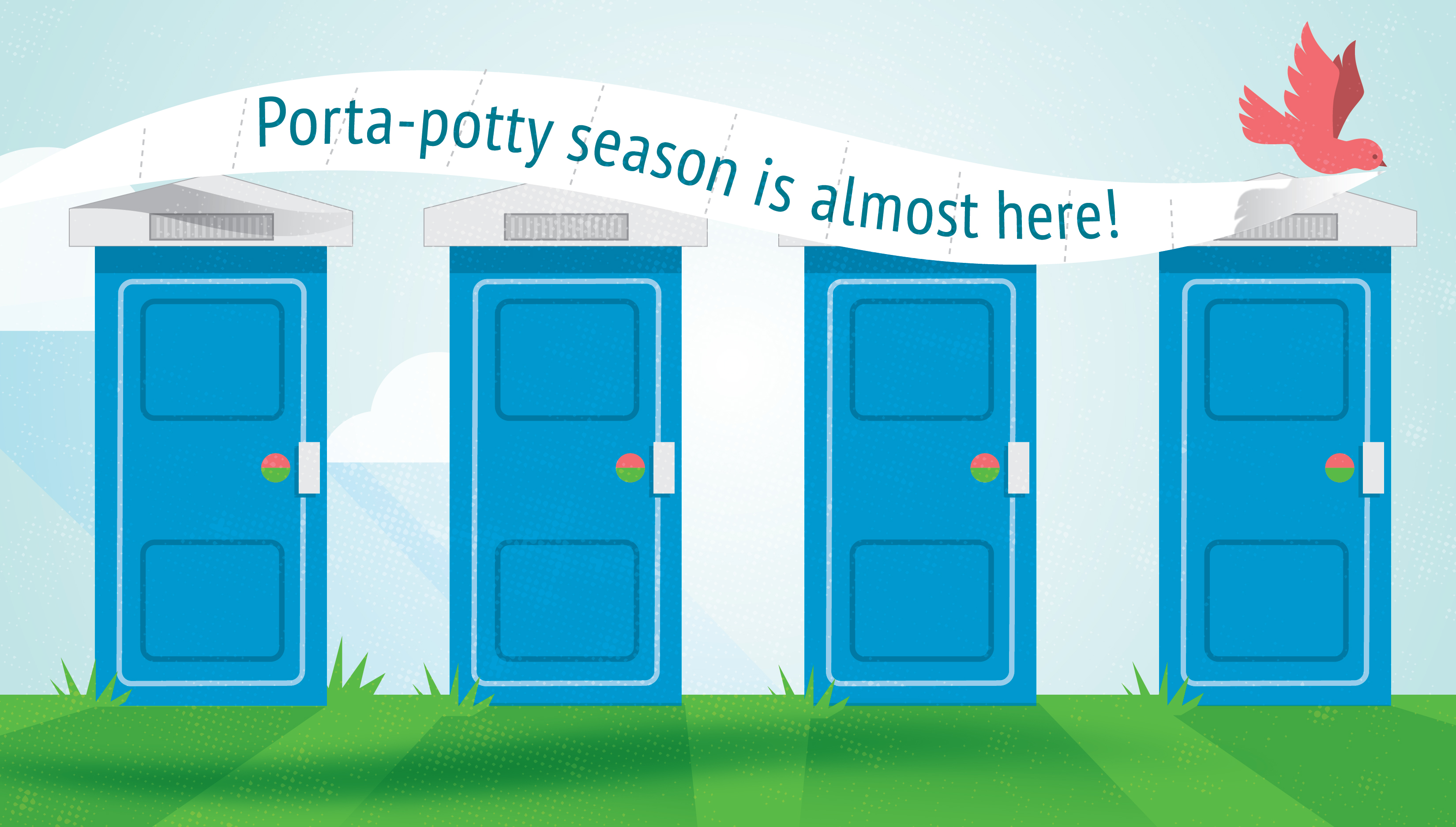 porta-potty season is almost here graphic