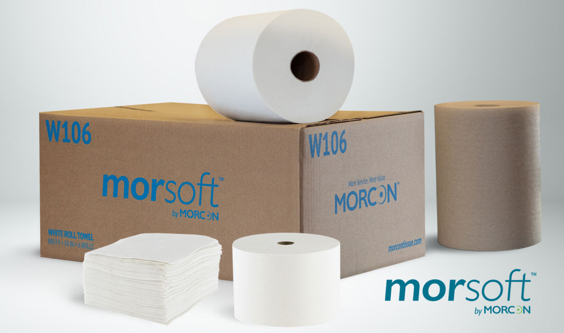 Morsoft commercial napkins, bath tissue, and paper towels