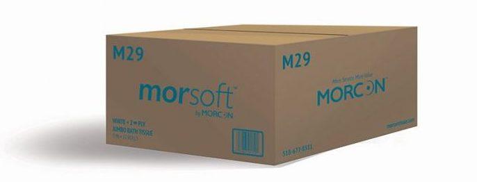 Box of Morsoft M29 Jumbo Bath Tissue