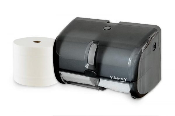 M1005 Valay Plastic Small Core Tissue Dispenser by Morcon