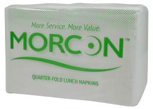 package of L12500 Morsoft quarter fold lunch napkins