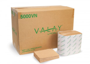 Valay 5000VN Kraft 2-Ply Interfolded Napkin Case