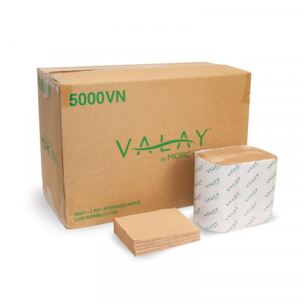 Valay 5000VN Kraft 2-Ply Interfolded Napkin Case
