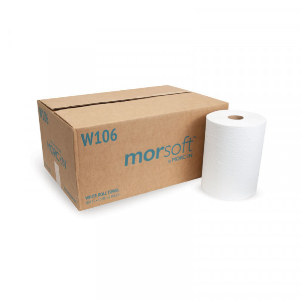 Morsoft W106 10 IN White Roll Towel