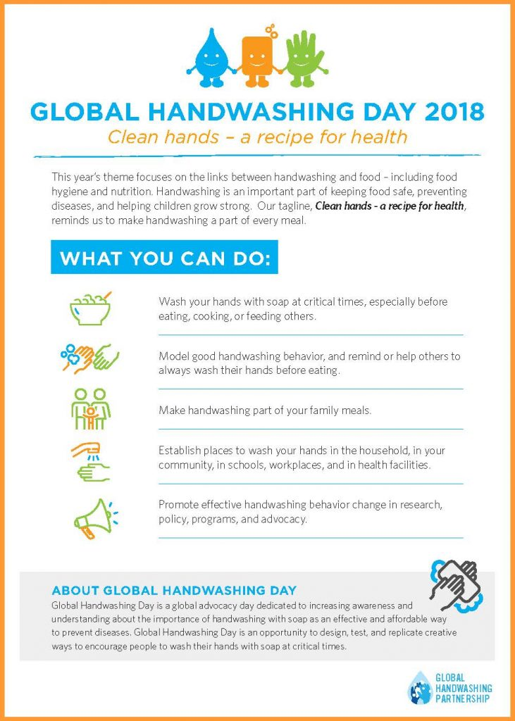 Global Handwashing Day 2018 Infographic