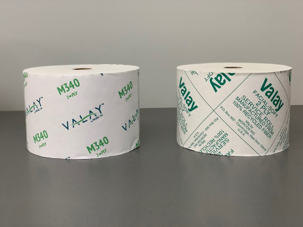 two rolls of M340 Valay Bath Tissue