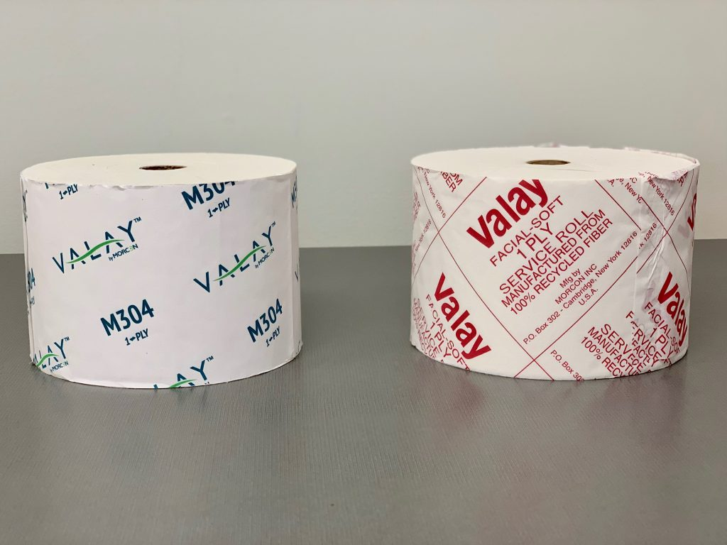 two rolls of Valay Bath Tissue M304