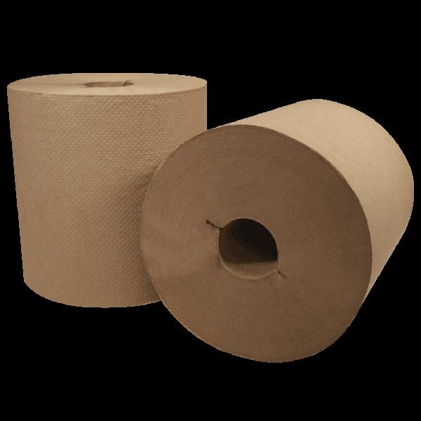 rolls of 300RI kraft Morsoft I-Notch Hardwound Towel