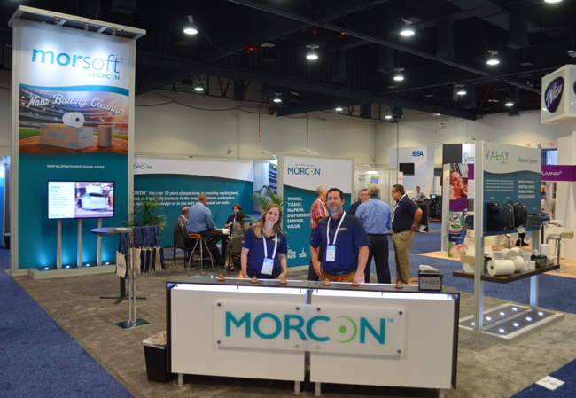 Morcon Employees at the 2017 ISSA Morcon Tissue Booth