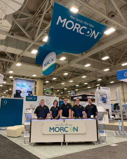 Morcon Tissue Employees at their ISSA Booth in 2018