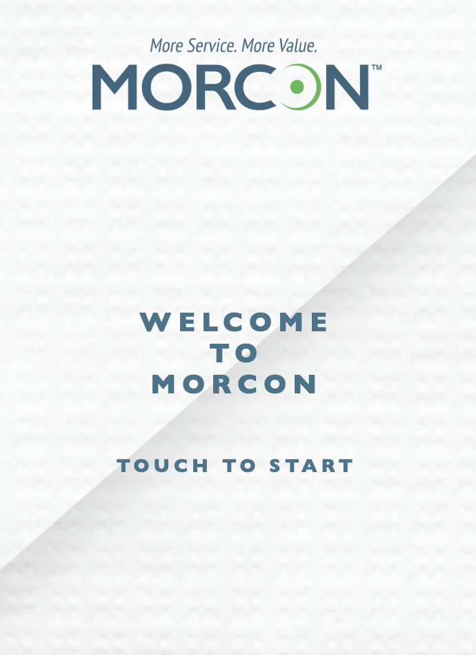 photo of Morcon's Web Application Welcome Page