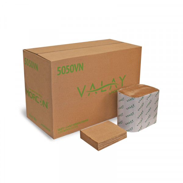 Valay 5050VN 1-ply Kraft Interfold Napkin