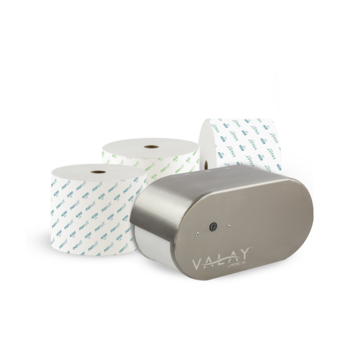 Valay Tissue Dispenser and Morsoft Paper