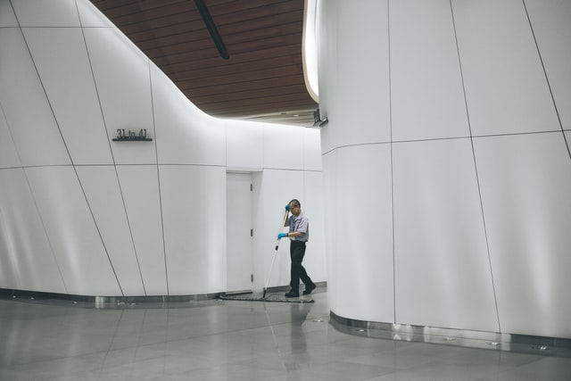 Cleaning Office Building