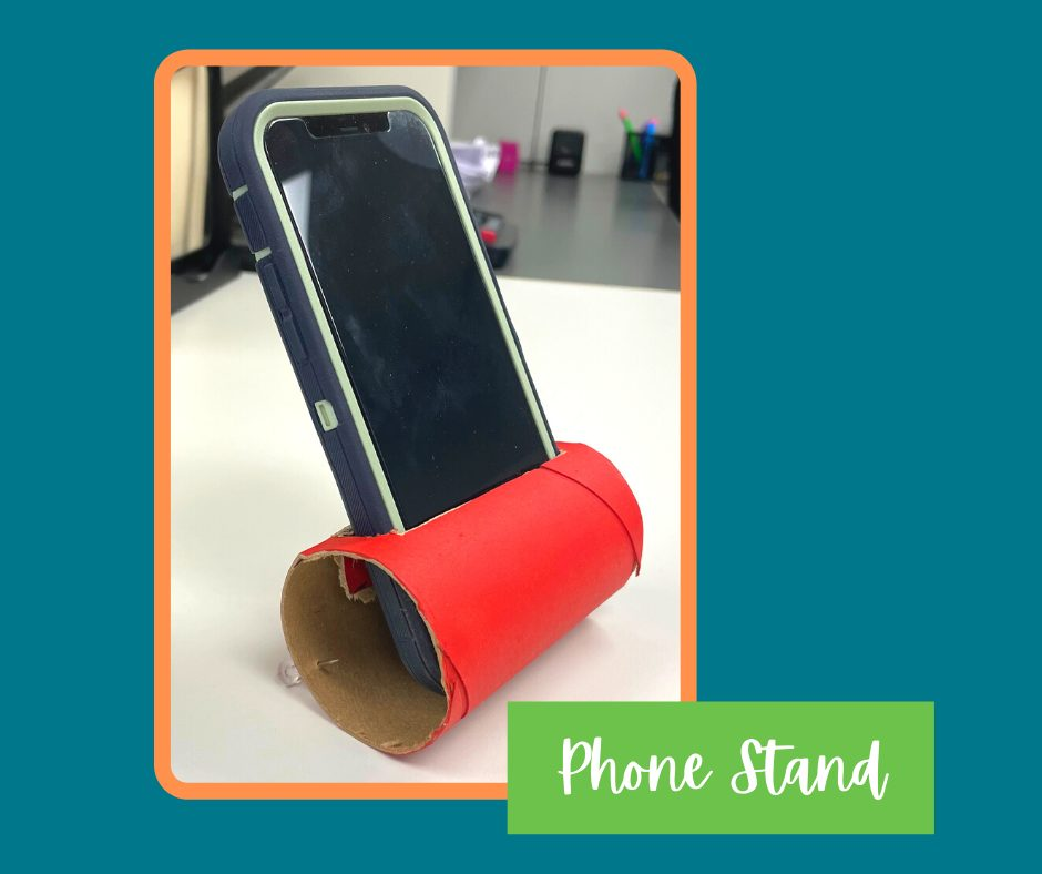 Toilet Paper Core Phone Stand